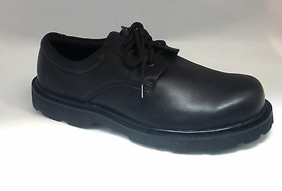 "Men's Oxford Boots Waterproof Black Leather 4"" Comfort Work Shoes Oil Resistant"
