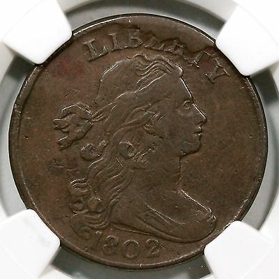 1802 S-234 NGC VF 30 LDS Draped Bust Large Cent Coin 1c