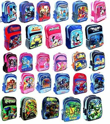 New Large Backpack Bag School Kids Boys Girls Frozen Cars Minion Toys Christmas