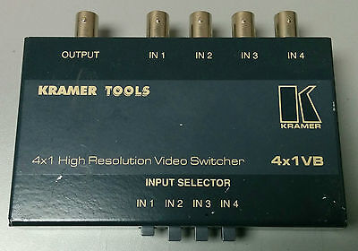 Kramer Electronics 4X1VB Video input switcher for composite signal with BNC