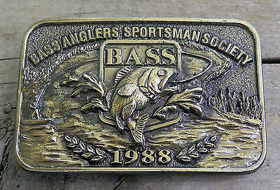 Bass Anglers Sportsman Society 1988 Fishing Fish Belt Buckle