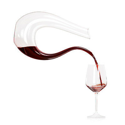 Top Grade Crystal Glass U-shaped Horn Wine Decanter Wine Pourer Wine Container
