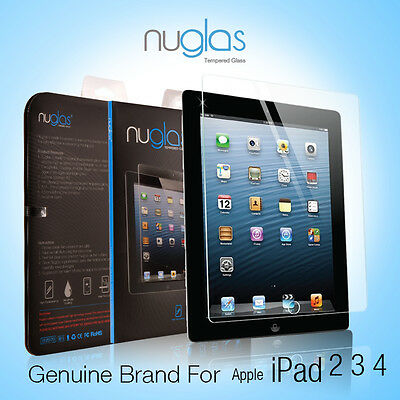 Genuine NUGLAS Tempered Glass Screen Protector for Apple iPad 4 3 2