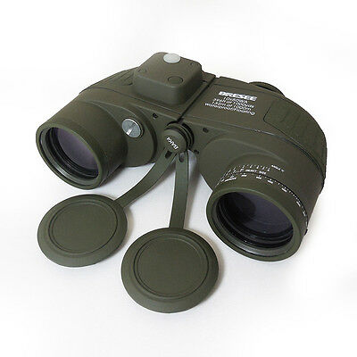 New  Hunting Tactical Marine Waterproof 7X50 Binoculars with Compass & Reticle