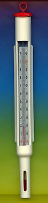 Maische Thermometer -10+110°C in 1°C  -rot- Käse  Thermometer in Plastikgehäuse