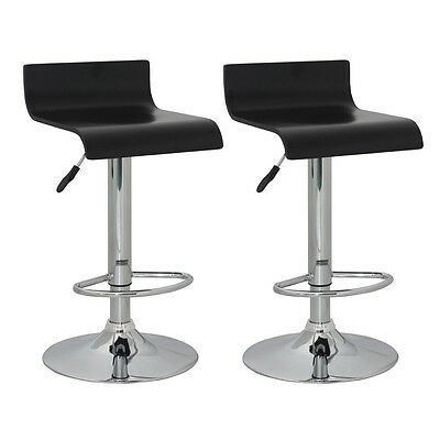 New Set of two bar stools black wood bar chairs dining stool bar furniture