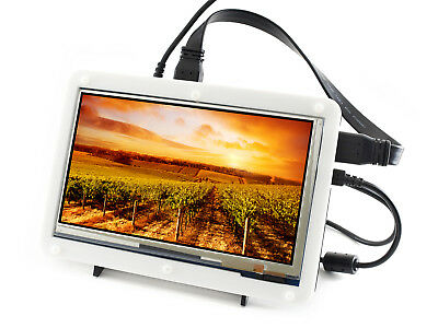 7inch HDMI LCD (C) with bicolor case 1024*600 resolution IPS for Raspberry Pi