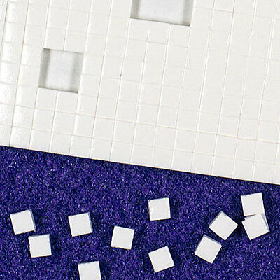 Double Sided Adhesive Sticky White Foam Pads 3mm x 3mm x 2mm - 1,089 Per Sheet