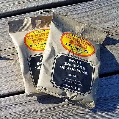 Ac Legg's Old Plantation Sausage Seasoning Blend #7, 2 Packs - Free Shipping