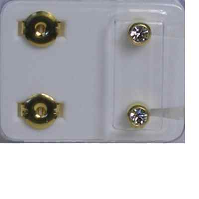 Studex April Diamond White Birthstone Studs Ear Piercing 12 pairs - E24