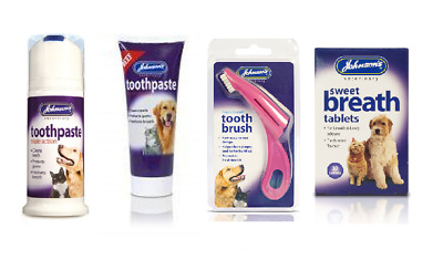 Tropiclean Puppy Dog Tooth Cleaning Dental Gel Johnsons Toothpaste Brush Cloth