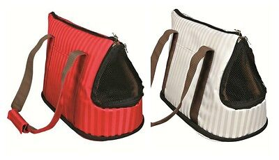 Millie Nylon Small Dog Carrier Red or White | Small Pet Tote Carrier