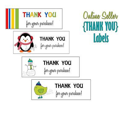 180 eBay SELLER THANK YOU Labels Stickers Online Business Customer Service TY