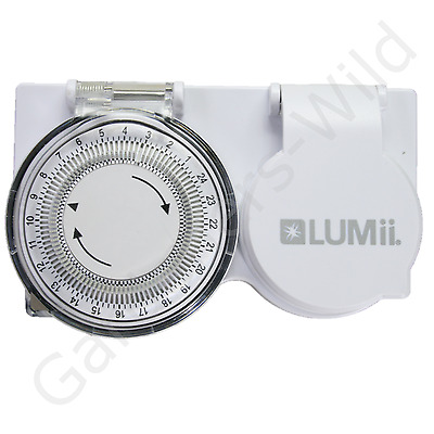 TIMER PLUG IN 24 HOUR HEAVY DUTY LUMII high load HID CFL ballast grow light