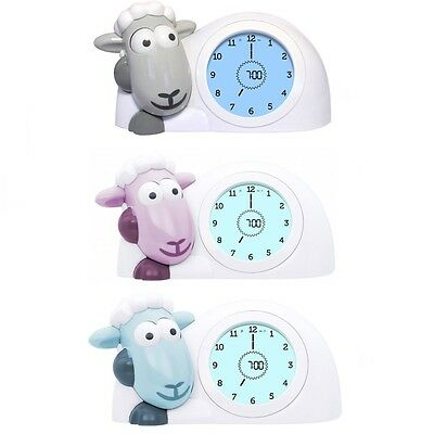 Zazu - Sam the Lamb Childs Sleeptrainer Clock and Alarm Analogue and Digital