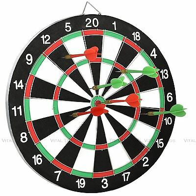 New Dartboard Dart Board With 6 Darts Ideal Game Gift