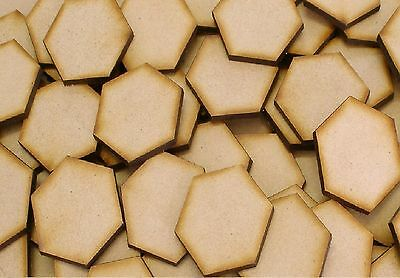 MDF Wooden Disk Hexagon Shape 3mmThick Wood Base Hex Shapes