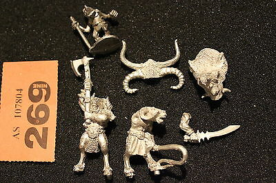 Games Workshop Warhammer Beastmen Chariot Metal Spares Bits Job Lot Beastman OOP