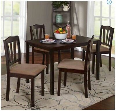 dining set 5 piece breakfast furniture wood 4 chairs and table kitchen dinette breakfast sets furniture