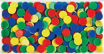 600 Round Counters 4 colours Maths Games Bulk Buy Sorting Counting 20mm