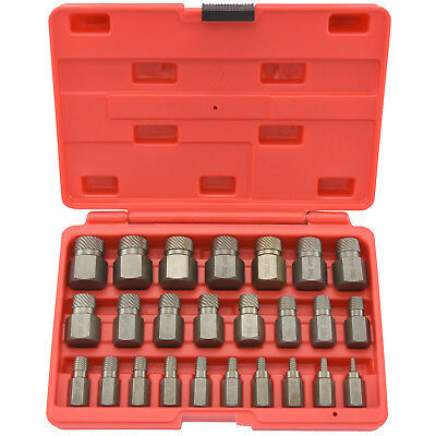 Multi-Spline Screw Extractor | 25pc Set Hex Head Bit Socket Wrench Bolt Remover