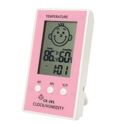 Digital Wireless Thermometer Hygrometer Temperature Humidity Electronic Clock