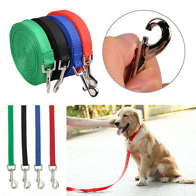 6/15/ 20/ 30/ 50 FT Dog Leash Long Obedience Recall Nylon Pet Training Lead Rope