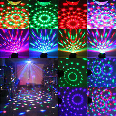 KINGSO 3W RGB LED DJ Disco Party Crystal Ball Stage Effect Light Voice Control