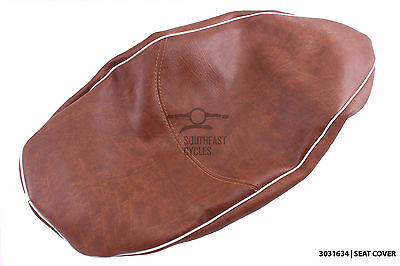 High quality brown seat cover for automatic vespa S125ie S150 *flat seat