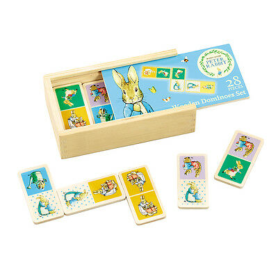 JEU DE DOMINO traditionnel IMAGES en bois BEATRIX POTTER - PIERRE LE LAPIN