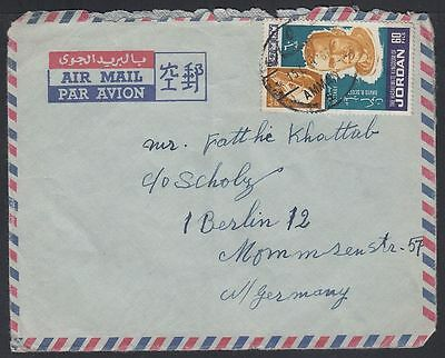 1967 Jordan Cover to Germany, Weltraum Space David Scott Gemini [ca726]