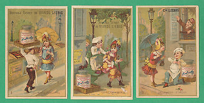 Liebig - Very Rare Set Of 6 Cards - S 122 / F 119  - A Chef Goes Courting - 1883