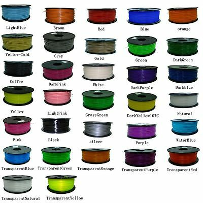 New 3D Printer Filament ABS 1.75mm 1kg/roll 20 colours Aussie Stock AU Shipping