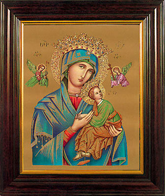 Our Mother Of Perpetual Help Framed Picture - Religious Statues & Candles Listed