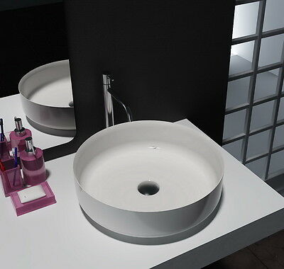 Bathroom - Round Above Counter Top Basin - Stone - Solid Surface - Matt Finish