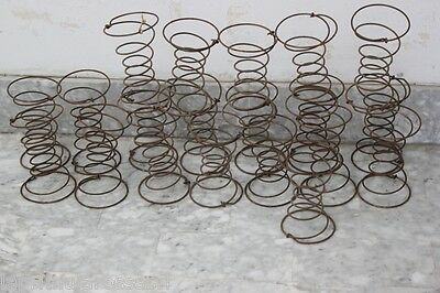 10 Vecchie Molle A Spirale Per Tappezziere  Molla Vintage Spring For Upholsterer