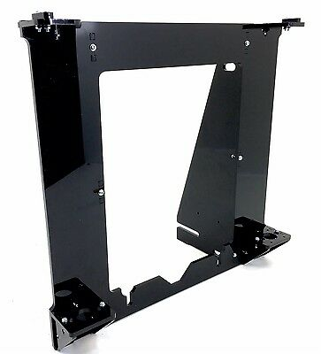 Black Acrylic 3D printer reprap prusa i3 rework laser cut frame w/ larger holes