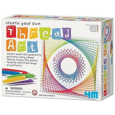 4M Create Your Own Thread Art Craft Activity Kit Geometric Patterns