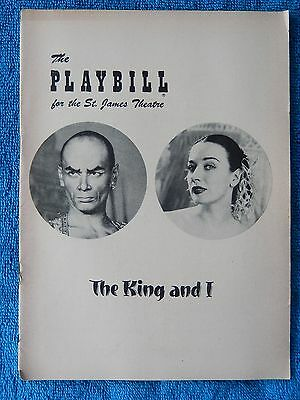 The King And I - St. James Theatre Playbill - February 22nd, 1954 - Yul Brynner