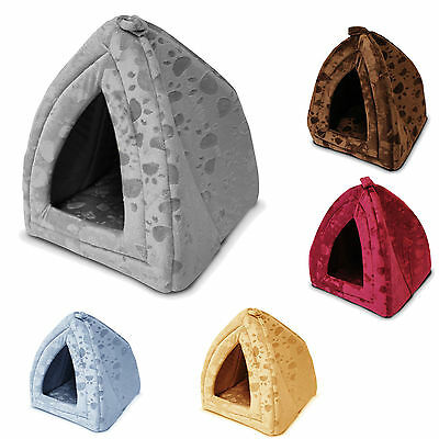 Brand New Pack Of Five,  Igloo Cave Pet Houses For Cats Or Small Dogs.