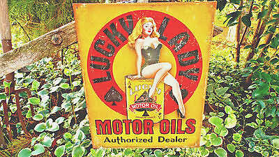 Vintage Signs Metal Tin Advertising Gas Gasoline Oil Collectible Automotive Sign