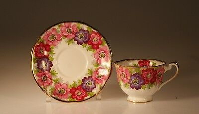 """Royal Standard """"Carmen"""" Pink/Purple Cup and Saucer"""