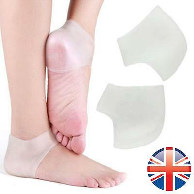 *UK Seller* 2 X Silicone Heel Ankle Support Pain Relief Cushion Pad Plantar