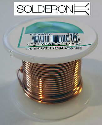 1.25mm Enamelled Copper Wire 100g Approx 10m 16BS