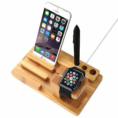 New Elegant Wood Charging Dock Bamboo Wood Smarter Watch Free Shipping