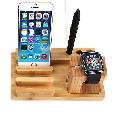 New Elegant Wooded Charging Dock Bamboo Wood Smarter Watch Free Shipping