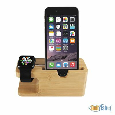 New Elegant Casual Wood Charging Dock Bamboo Wood Smarter Watch Free Shipping