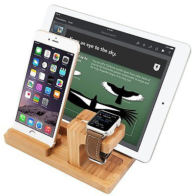 New Casual Wooded Charging Dock Bamboo Wood Smarter Watch Free Shipping