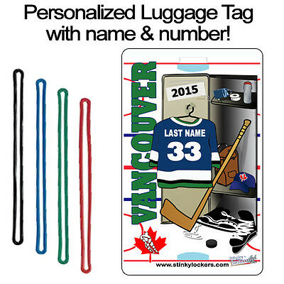 Personalized Vancouver Hockey Luggage Tag