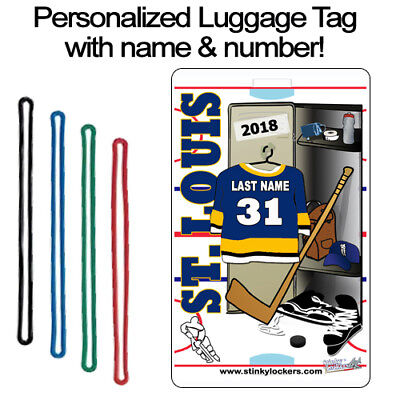 Personalized St Louis Hockey Luggage Tag